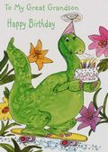 GREAT GRANDSON-DINOSAUR AND CAKE